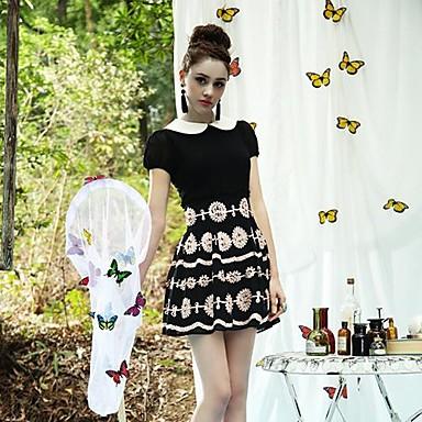Wayth Women's The Palace Temperament Doll Collar Slim Dresses(China (Mainland))