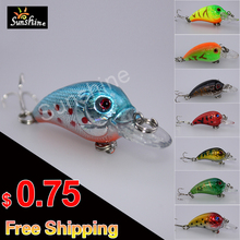 Fishing Lures 8 Colors 4.5cm-4.2g wobblers artificial hard pesca crankbait  fishing tackle