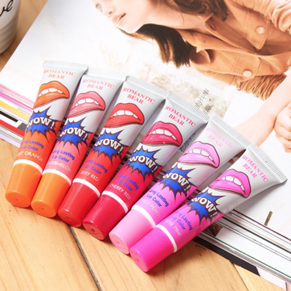 Hot sale lip gloss tattoo magic color peel mask tint pack lipstick 6 color ebay.