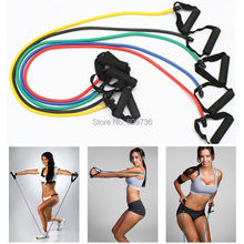 Exercise Sport Resistance Bands Natural Tension Health Elastic Fitness Sport Body Stretching Belt Pull Rope Strap with handle