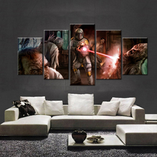 Sci-Fi Movie Poster Star Wars Big Oil Paint Wallpaper Canvas Print Modern Interior Decoration Kids Painting on Walls Gallery(China (Mainland))