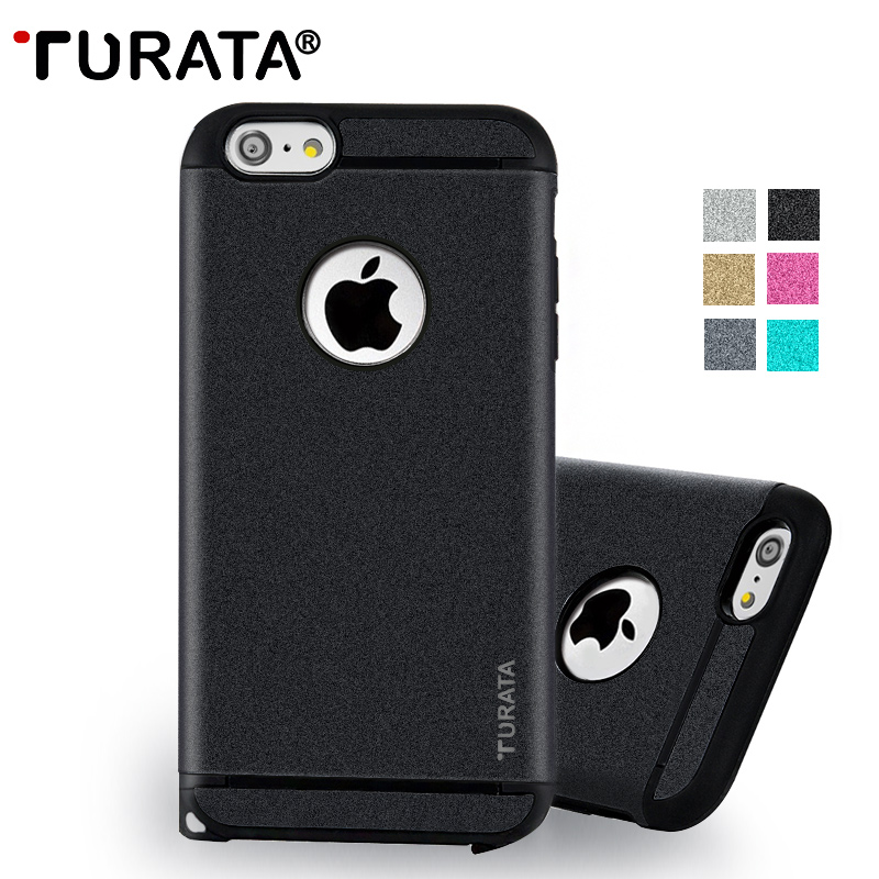 TURATA Case for iPhone 6 / 6 Plus [Heavy Duty] Hybrid PC+TPU Shockproof Full Protective Cover for iPhone6 6Plus Retail Package(China (Mainland))