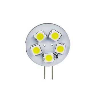 100Pcs 0.6W G4 5050 SMD 5LED DC12/24V Marine Cabinet Camper Bulb Lamp Light New Free Shipping