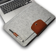 "2016 New Felt Laptop Sleeve Bag Notebook Case Computer Smart Cover Handbag For 11"" 13"" 15"" Macbook Air Pro Retina Ipad(China (Mainland))"