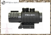 Vector Optics Calypos 3×30 Tactical Compact Gun Prism Rifle Scope Rubber Armored Sight Shooting Ballistic Reticle with Top Rails