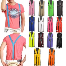 Women Men Clip-on Elastic Suspenders Y-Shape Adjustable Braces Solids M2356 1PC Over $115 Free Express(China (Mainland))