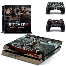 Witcher Skin Vinyl Skins Sticker for Sony PS4 PlayStation 4 and 2 Controllers Skins Cover GYTM0109