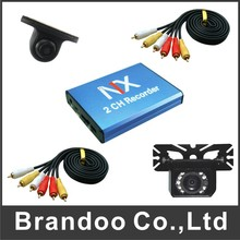 Discount sale 2 channel taxi recorder kit, auto recording 128GB sd card, car black box for taxi, bus(China (Mainland))