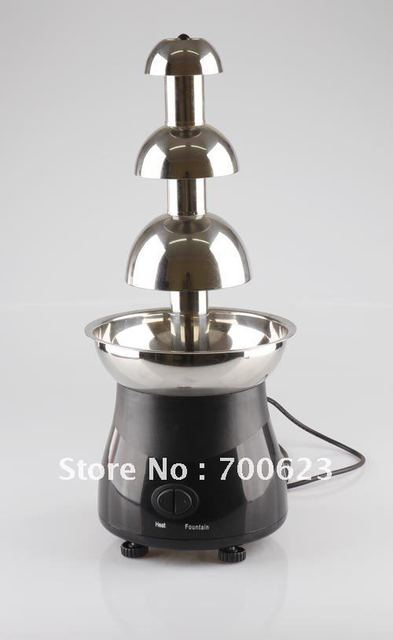 CHOCOLAZI ANT-8050 Auger 3 tiers stainless steel  55cm Home chocolate fountains(Free shipping)