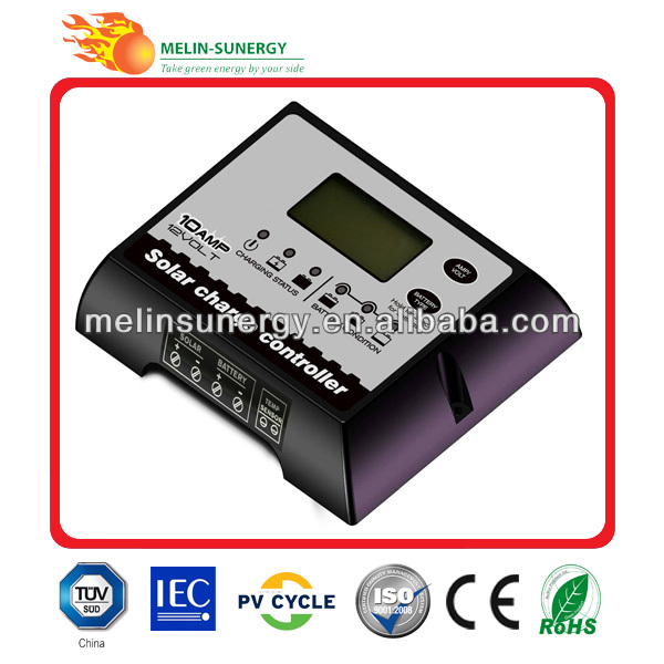 10A/12V 5 Stage Charging Digial Solar Charge Controller(China (Mainland))
