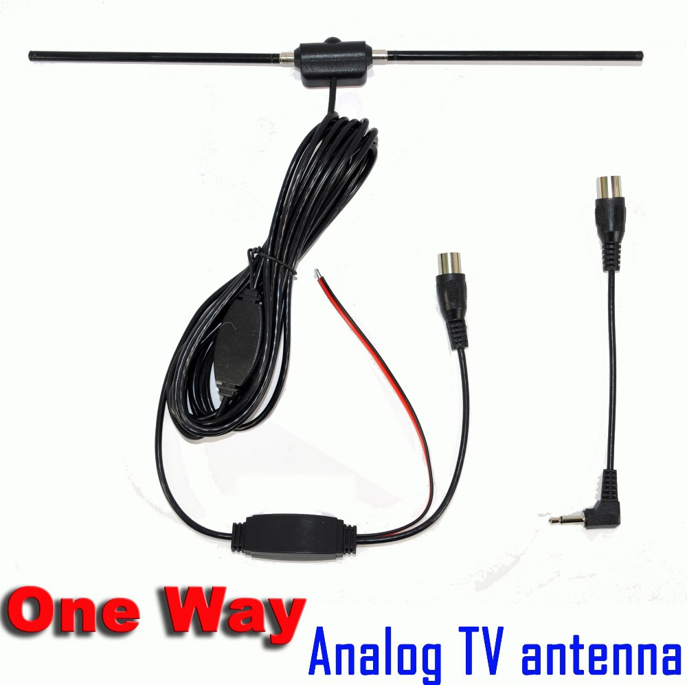 Super Hotsales One Way Car Analog TV Antenna Aerial with 3M Sticker Good Quality Free Shipping(China (Mainland))