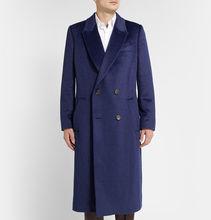 Wool Coat men blue color arlene sain (China (Mainland))