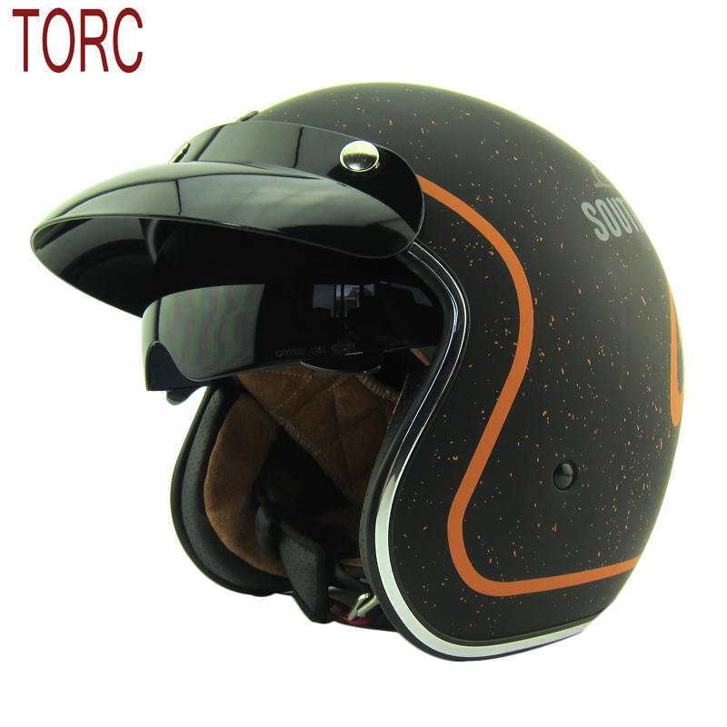 TORC helmet Motorcycle Motorcross helmet/ Motorbike Jet Vintage helmet/Open face retro 3/4 half helmet/T57 ,ECE Free shipping(China (Mainland))