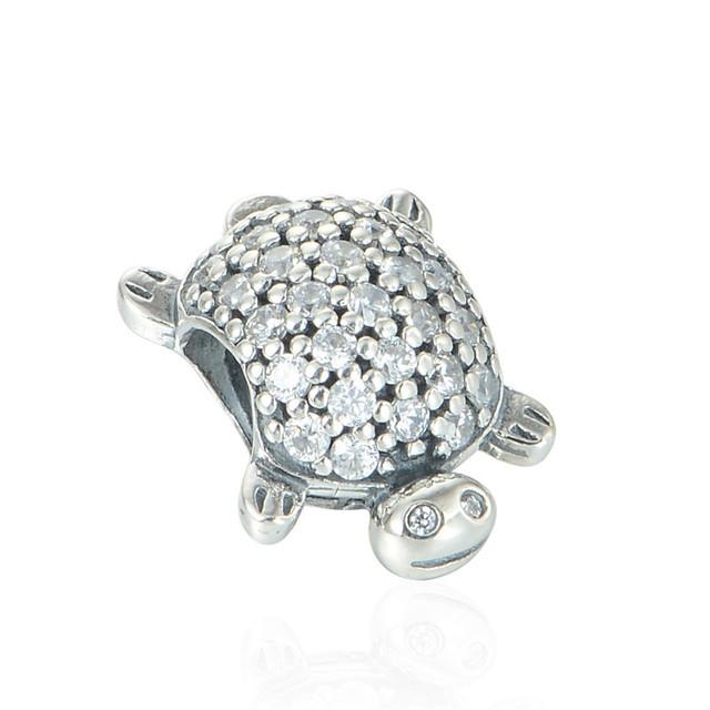 Cz камни животных черепаха бусины чистый 925-Sterling-Silver ювелирные изделия женщин DIY ювелирные подходящий европейский марка прелести браслет летний стиль