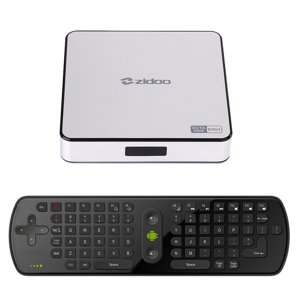 ZIDOO X6 Pro Android 5.1 TV Box RK3368 Octa Core Cortex-A53 2G/16G Dual WIFI HDMI 4K*2K KODI 3D + RC11 Gyro AIR Mouse Keyboard(China (Mainland))