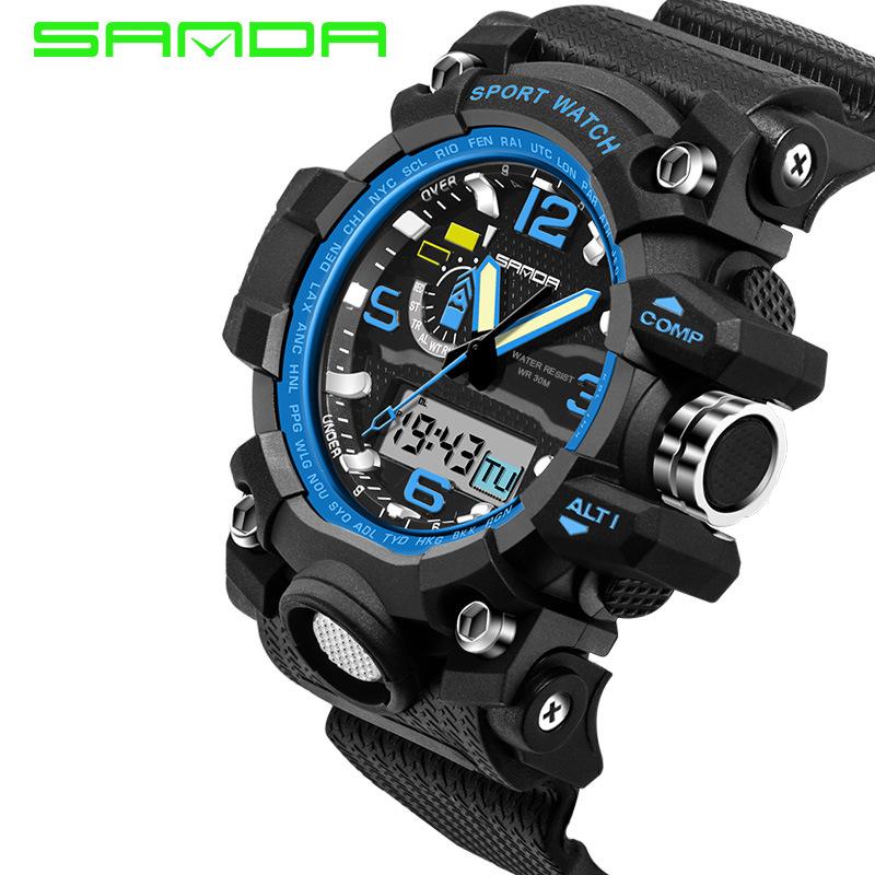 Mens Watches 2016 SANDA Fashion Watch Men G Style Waterproof Sports Military Watches Shock Luxury Analog Digital Sports Watches(China (Mainland))