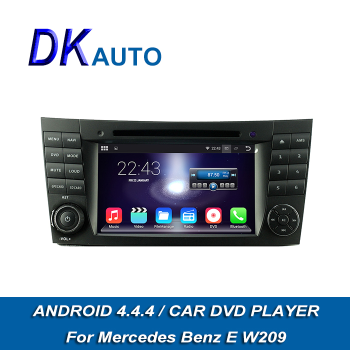 Car Radio Player Android 4.4.4 OS For Mercedes Benz W209 W219 CLS 350 Dual Core 2 Din 7 Inch DDR3 1G GPS BT USB Wifi Music DVB T(China (Mainland))