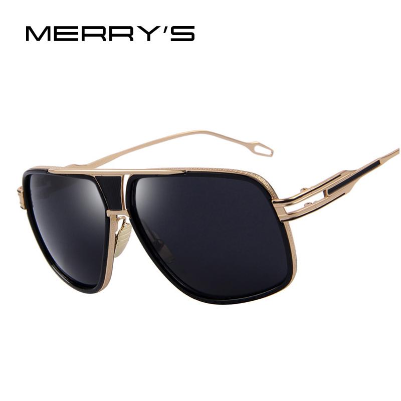 Vintage Large Frame Glasses : MERRYS Sunglasses Men Newest Vintage Big Frame Goggle ...