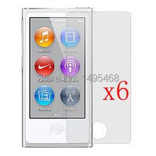 6Pcs Clear Cellphone LCD Screen Protector film Cover For ipod Nano 7 7th gen