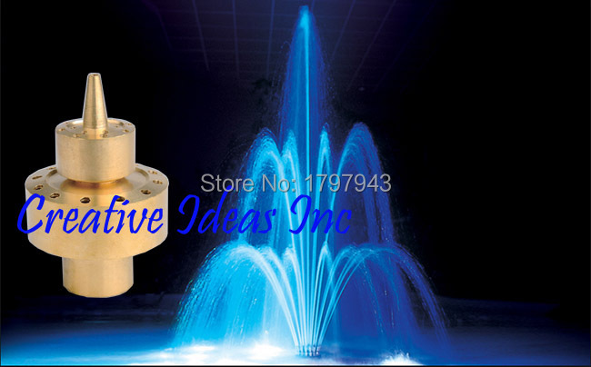 "Free Shipment Brass Double Layer Interlouble Fountain Nozzle DN40 1-1/2"" Garden Water Sprayer Landscape Sprinkler Theme Parker(China (Mainland))"