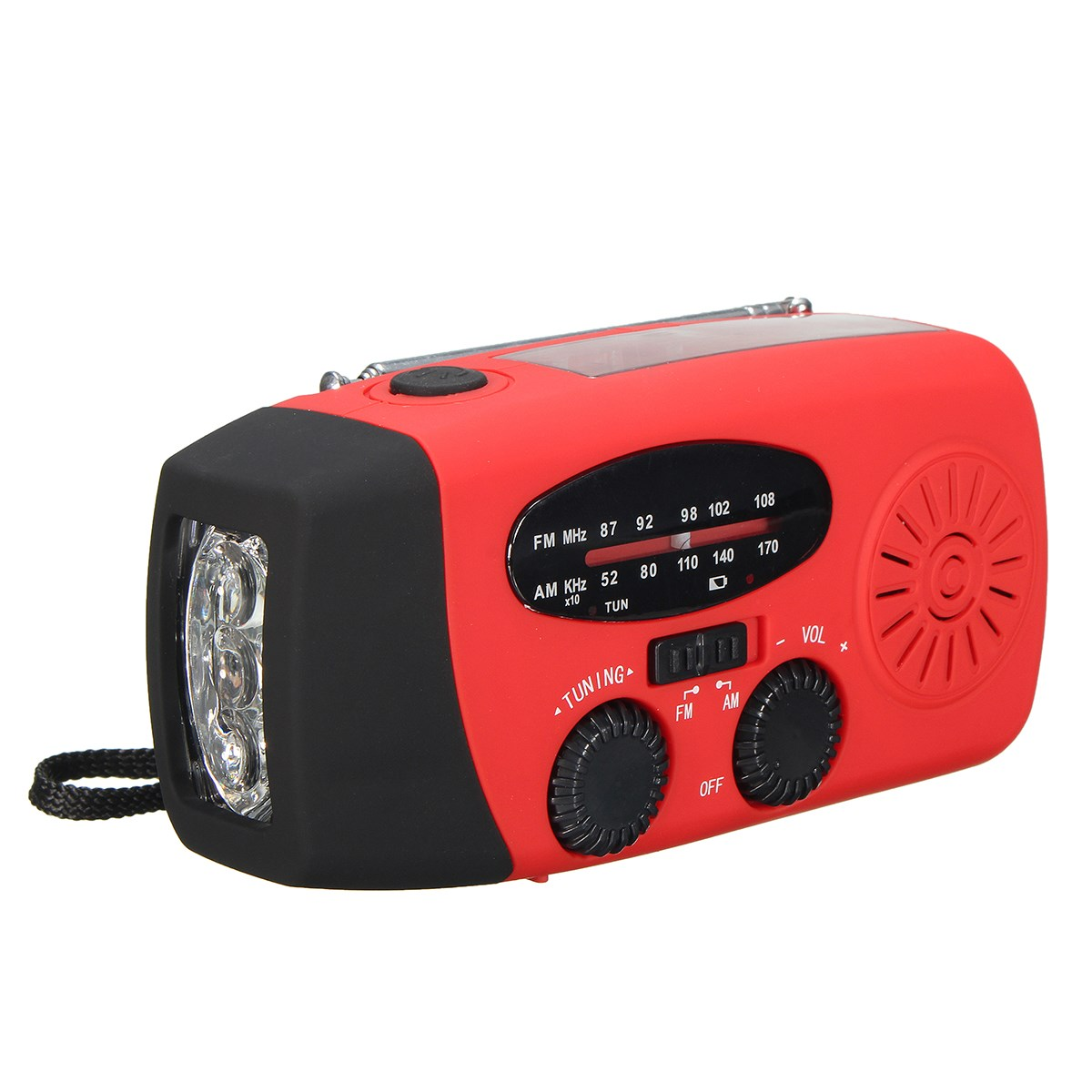 High Quality Portable Solar Power Digital AM FM Radio Rechargeable USB Port LED Torch Emergency Charger Radio(China (Mainland))