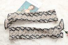 QUTAA 2020 Mode Serpentin PU Leder Slip Auf Lange Stiefel Platz Ferse Komfort Winter Frauen Über Das Knie Stiefel Größe 34-43(China)