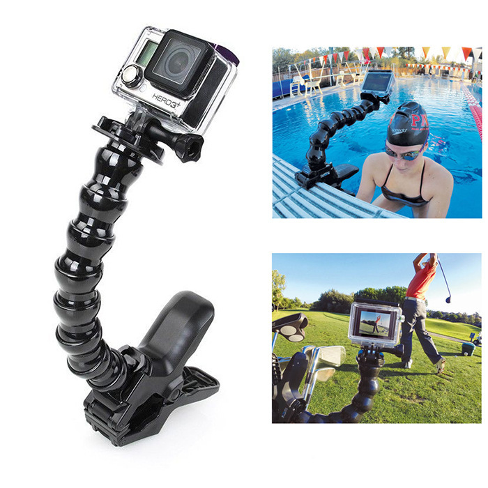 Xiaomi yi Accessories Adjustable Jaws Clamp Flexible Snake Arm For Gopro Hero 43 3 SJ4000 Xiao