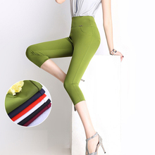 women's fashion candy-colored outer wear capris/ leggings pants big yards skinny high elasticity pants high waist pencil pants