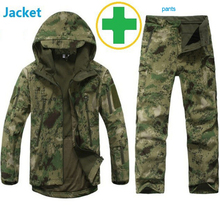 Buy Tactical Gear Softshell Camouflage Jacket Men Army Waterproof Warm Camo Clothes Windbreaker Fleece Coat Military Jacket set for $51.00 in AliExpress store