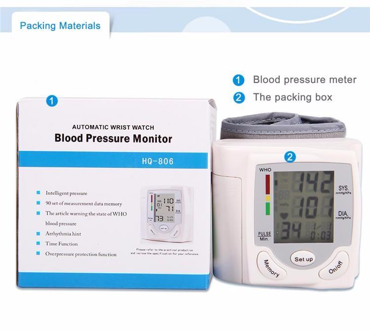 1 PCS Wrist Blood Pressure Monitor Wrist Meter Pulse Sphygmomanometer Home Health Care HQ-806 cheap