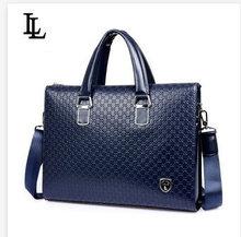Men Leather Briefcase Messenger Bags 14'' Laptop Men Shoulder Business bag Tote carteira masculina maletin cuero portafolios(China (Mainland))