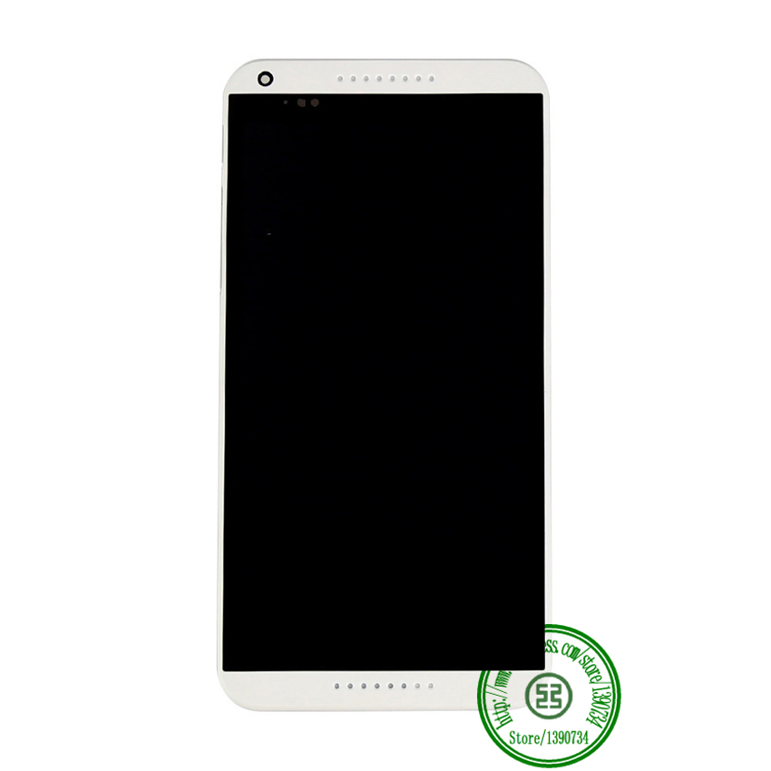 TOP Quality White Color Full LCD Display Touch Screen Digitzer Assembly + Bezel Frame For HTC Desire 816 816W D816x Replacement