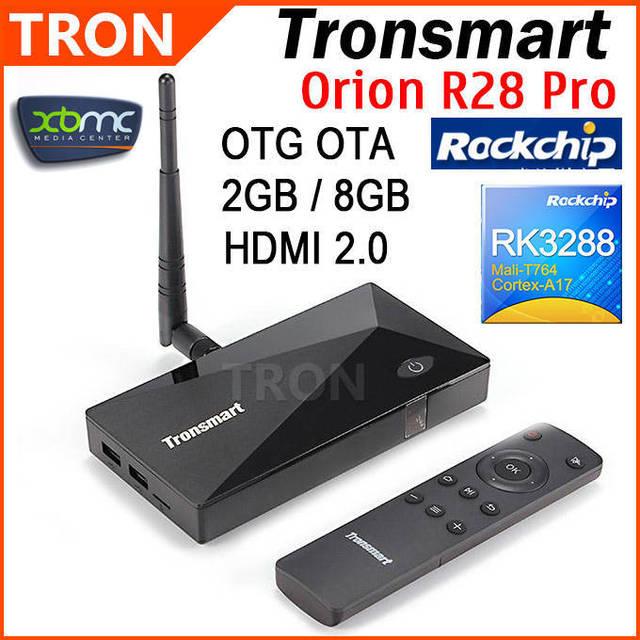 Tronsmart Orion R28 Pro RK3288 Quad Core 1.8GHz Google Android TV Box 2GB RAM 8GB ROM Wifi Bluetooth OTA OTG Android 4.4