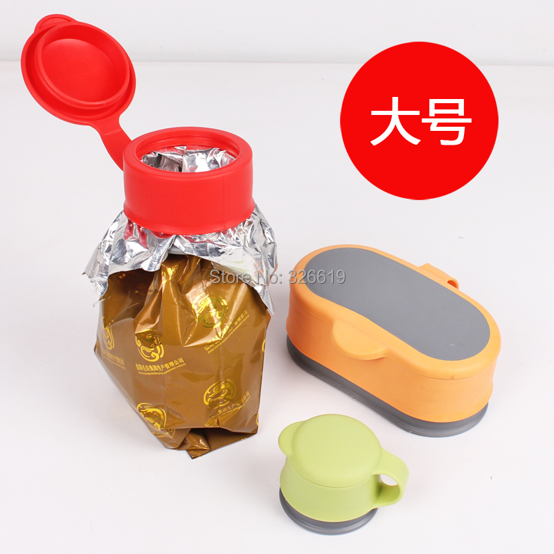 Free shipping Lid sealing device multifunctional food sealing cover buckle Large bag stopper(China (Mainland))