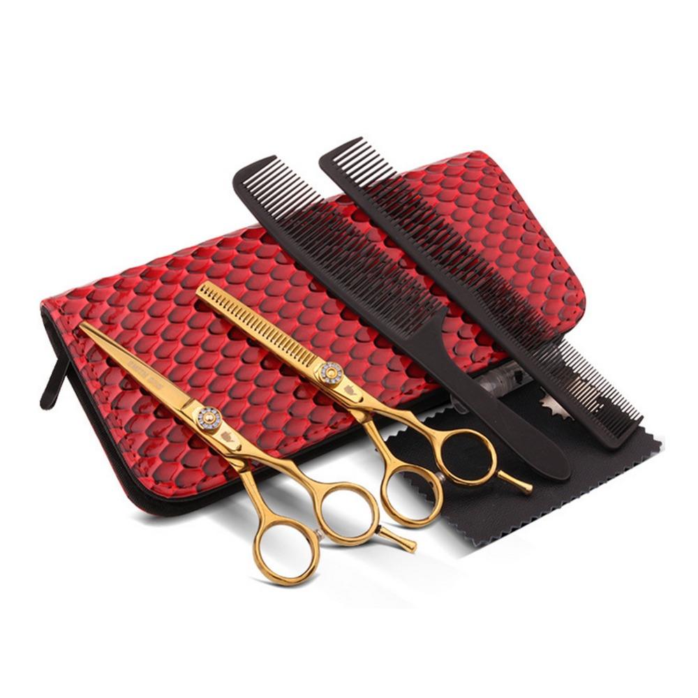 Professional Hairdressing Scissors Set 5.5 inch High Quality Cutting Thinning Scissor Shears Hairdresser Barber Razor PCPA0766