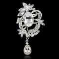 New Fashion Crystal Brooch Jewelry Zircon Pendant Brooch Wedding Brooch For Women broches jewelry