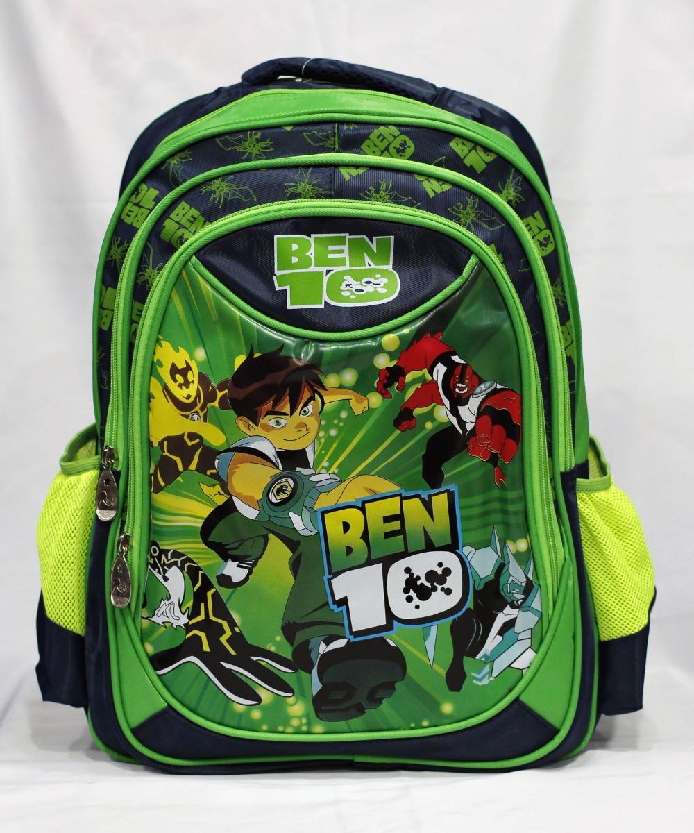 2015 Ben10 new vacuum Schoolbag Earth defender BEN10 popular cartoon backpack shoulder bag(China (Mainland))
