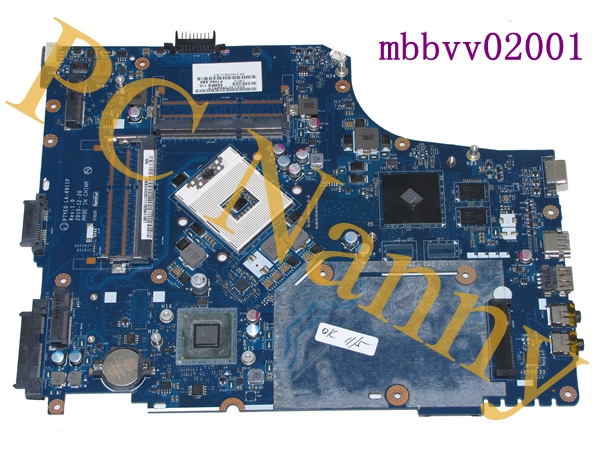 mbbvv02001 P7YE0 LA-6911P for Gateway NV77H Notebook Motherboard intel s989 hm65 with graphics chip -- tested(China (Mainland))