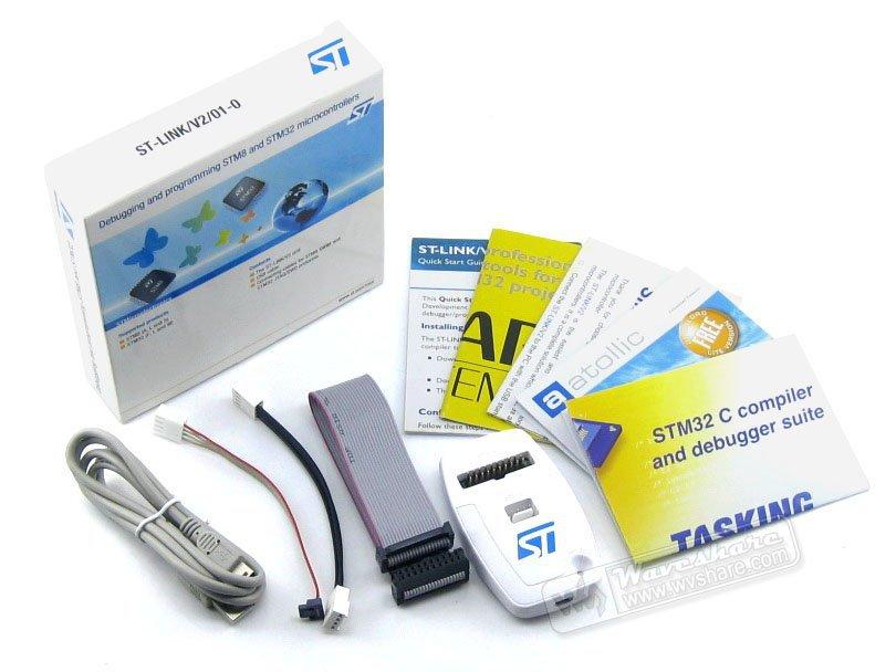 Original ST-Link V2 Stlink St Link V2 Stlink STM32 STM8 MCU USB JTAG In-circuit Debugger/Programmer/Emulator Freeshipping(China (Mainland))