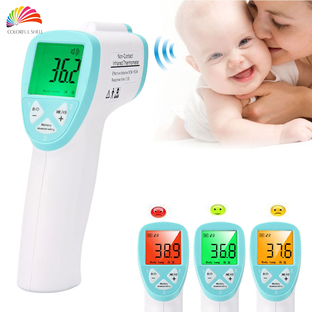 3-Color Backlight Medical Standard Adult/Baby Thermometer Infrared Accurate Infant Termometro LCD Electronic Diagnostic-tool(China (Mainland))