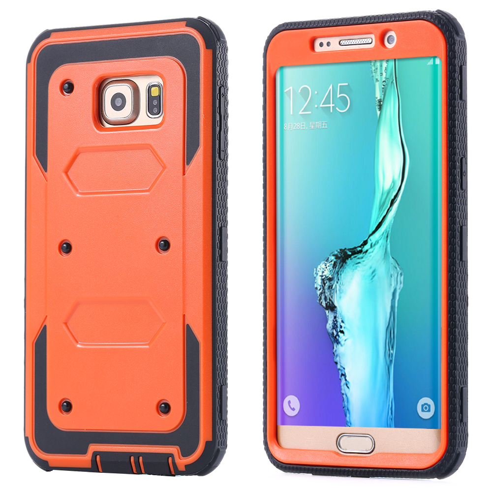 with Dust Plug , Screen Protective Case for Samsung Galaxy S6 Edge Plus Hybrid Tough Armor Cover S6 edge+ Silicone Bag(China (Mainland))