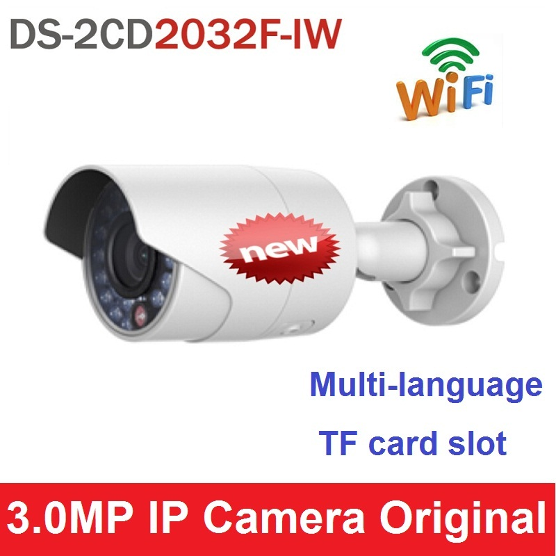Wifi Wireless Camemr V5.2.5 DS-2CD2032F-IW Upgrade Version of DS-2CD2032-I with SD Card Slot PoE Network Camera Multi-language