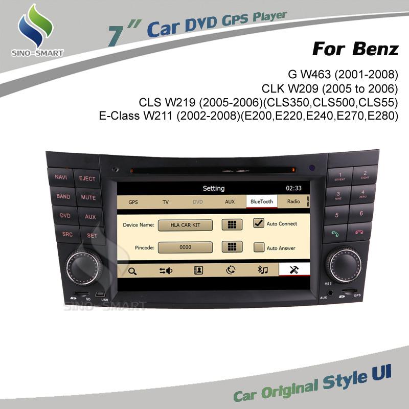 Keep car original style user interface car DVD GPS for Mercedes Benz E-Class W211 Benz CLS W219 Benz CLK W209 Benz G W463(Hong Kong)