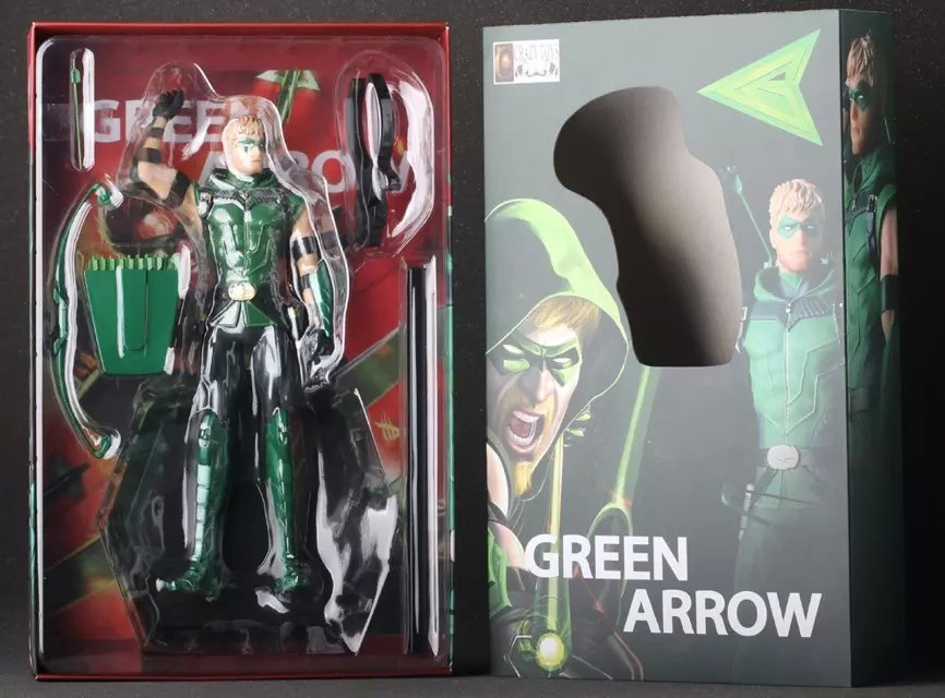 Hot Sale Crazy Toys Figurine Oliver Queen Green Arrow DC Comic Justice League Super Hero Action Figure(China (Mainland))