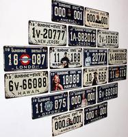 31*16cm Fashion vintage decoration wall hangings muons digital license plate metal finishing retro nostalgia