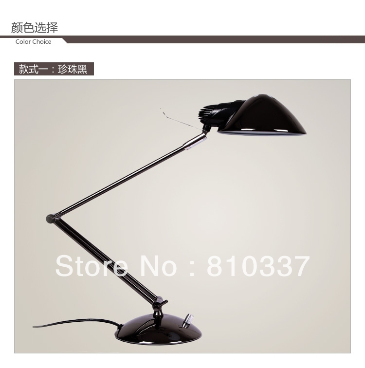 NEW Fashion modern E27 Metel bedside black/silver study lamp wrought iron dimming lamps light lighting fixture free shipping<br><br>Aliexpress
