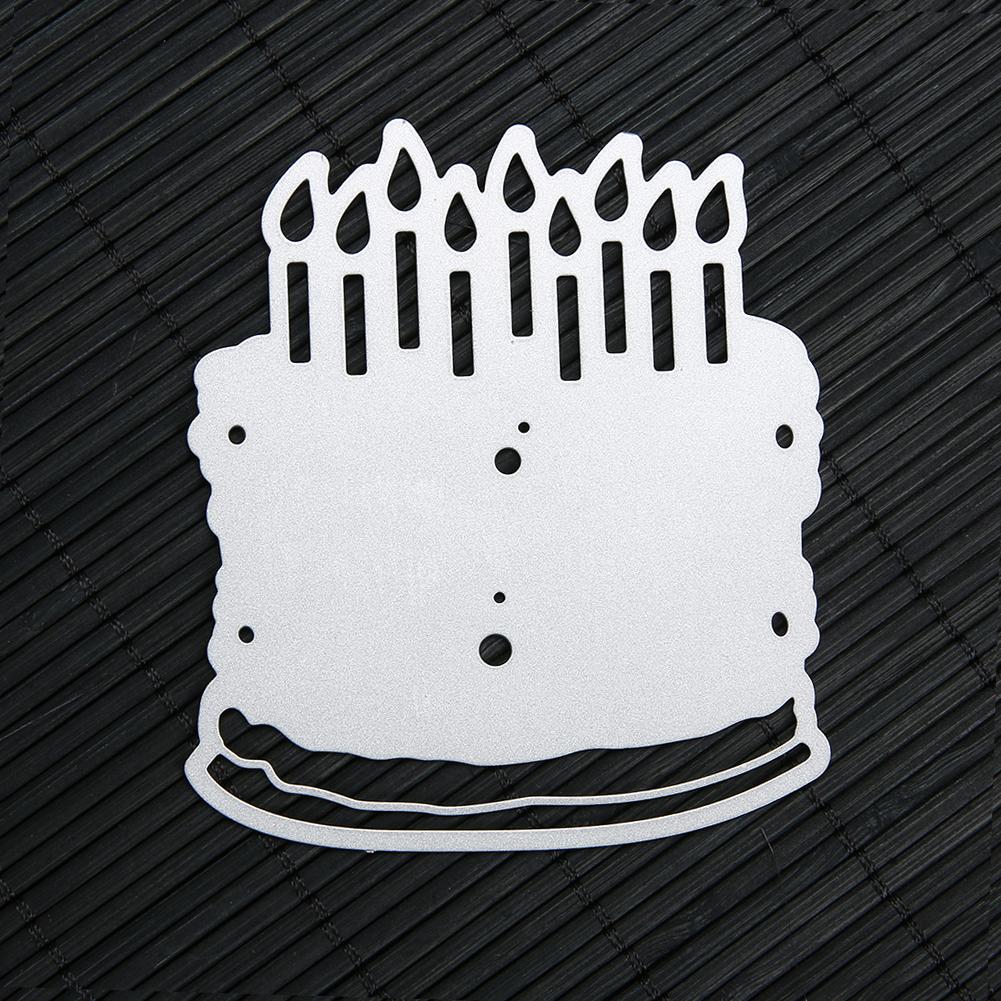 Birthday Cake Pattern Metal Cutting Dies Stencils for DIY Scrapbooking Decorative Craft Dies Photo Album Embossing Cards Die Cut
