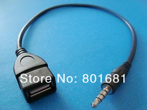 hotselling 3.5mm to usb cable adapter audio aux Jack Male converter Charge Cable