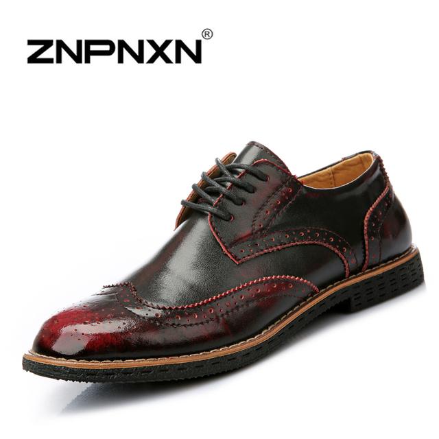 Znpnxn мода мужчины квартиры марка бездельников мужчины кожаные ботинки свободного ...