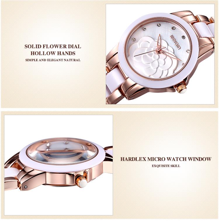 Марка WEIQIN Часы Женщин Моды Роскошь Кварц Керамические Часы Леди relojes mujer Женщины Наручные Часы Платье Девушки Clcok